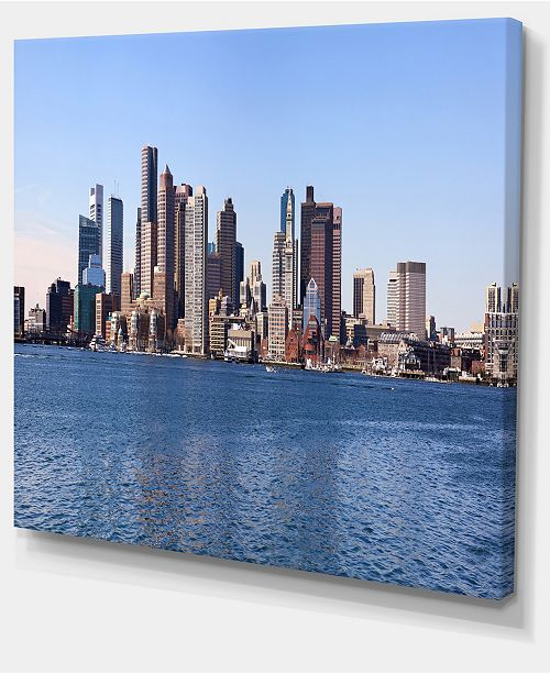"Design Art Designart Boston Skyline Panorama Cityscape Photo Canvas Art Print - 40"" X 30"""