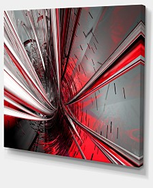 "Designart Fractal 3D Deep Into Middle Abstract Canvas Art Print - 40"" X 30"""