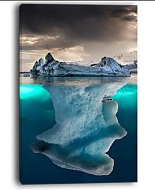 "Designart Large Iceberg In Sea Seascape Photography Canvas Art Print - 30"" X 40"""