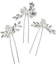 INC 3-Pc. Set Crystal & Imitation Pearl Bead Bobby Pins, Created for Macy's