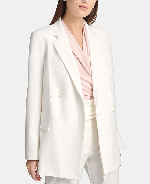 DKNY Oversized Double-Breasted Blazer