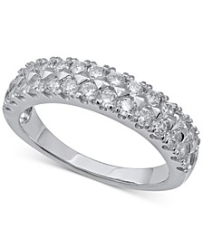 Diamond Multi-Row Band (1 ct. t.w.) in 14k White Gold
