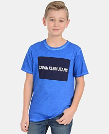 Calvin Klein Big Boys Logo-Print Cotton T-Shirt