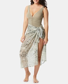 Coco Reef Contours Topaz Convertible Sarong Cover-Up