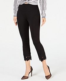INC Crochet-Hem Shaping Leggings, Created for Macy's