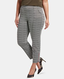 HUE® Plus Size Glen Plaid Skimmer Leggings