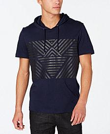 I.N.C. Men's Geometric Short-Sleeve Hoodie, Created for Macy's