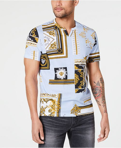 INC International Concepts I.N.C. Men's Broken Scrolls T-Shirt, Created for Macy's