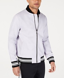 I.N.C. Men's Full Bloom Baseball Jacket, Created for Macy's