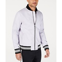 Deals on I.N.C. Mens Full Bloom Baseball Jacket