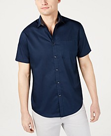 INC Men's Short-Sleeve Pocket Shirt, Created for Macy's