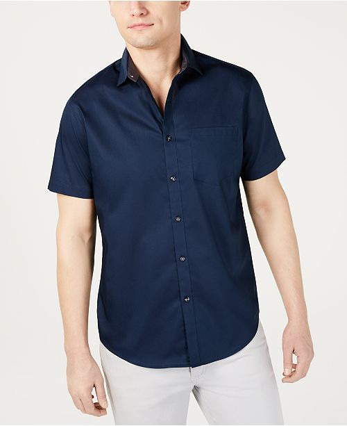 INC International Concepts I.N.C. Men's Short-Sleeve Pocket Shirt, Created for Macy's