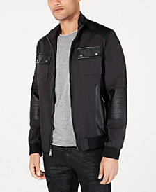 I.N.C. Men's Becket Mixed Media Jacket, Created for Macy's