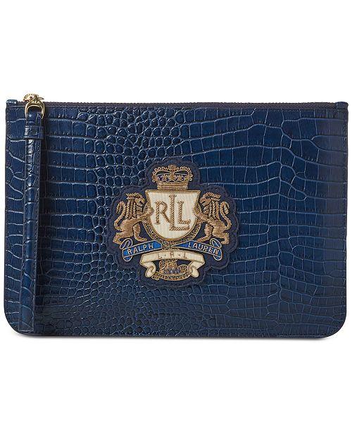 Lauren Ralph Lauren Dryden Leather Wristlet