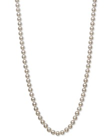 "Cultured Akoya Pearl (6-6-1/2mm) 18"" Strand Necklace in 14k Gold, Created for Macy's"