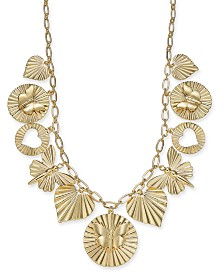 "Thalia Sodi Gold-Tone Shaky Charm Necklace, 18"" + 3"" extender, Created for Macy's"