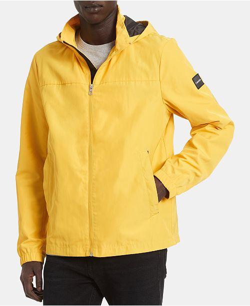 Calvin Klein Men's Driver Water-Resistant Hooded Jacket