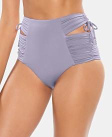 Soluna Under The Sun Cutout High-Waist Bikini Bottoms