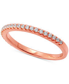 Diamond Band (1/5 ct. t.w.) in 14k Gold or Rose Gold