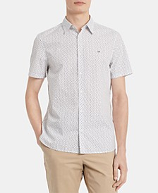 Men's Classic-Fit Dot-Print Shirt