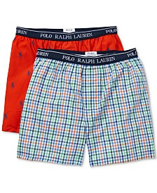 Polo Ralph Lauren Big Boys 2-Pk. Cotton Boxer Shorts