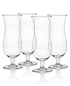 Cocktail Classic Hurricane Plastic Glasses, Set of 4
