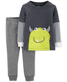 Carter's Baby Boys 2-Pc. Monster Graphic Top & Jogger Pants Set