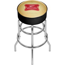 Miller High Life Girl in Moon Vintage Padded Bar Stool