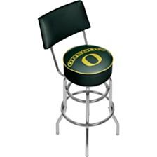 University of Oregon Swivel Bar Stool with Back - Wings