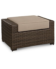 Camden Wicker Outdoor Ottoman, Created for Macy's