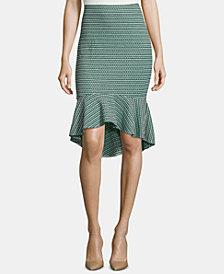 ECI Ruffle-Hem Pencil Skirt