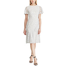 Lauren Ralph Lauren Ruffle-Trim Lace Dress