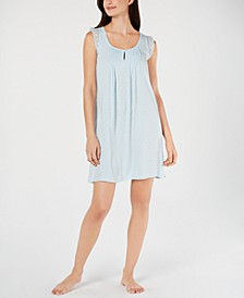 Lace Ruffle Sleeveless Chemise Nightgown
