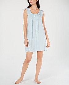Miss Elaine Lace Ruffle Sleeveless Chemise Nightgown