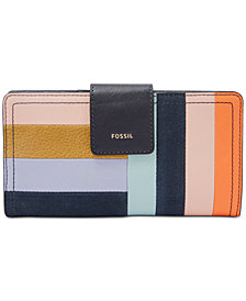 Fossil Logan Patchwork Leather Bifold Wallet