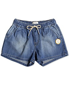 Roxy Big Girls Honey Sunday Denim Beach Shorts