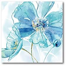 "Light Blue Flower II Gallery-Wrapped Canvas Wall Art - 16"" x 16"""