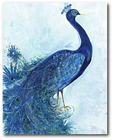 "The Blue Peacock Gallery-Wrapped Canvas Wall Art - 16"" x 20"""