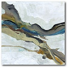"""Soothing Abstract Gallery-Wrapped Canvas Wall Art - 16"""" x 16"""""""