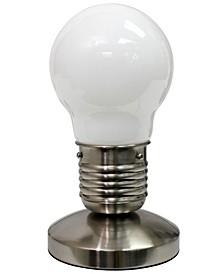 Simple Designs Edison Style Minimalist Idea Bulb Mini Touch Desk Lamp