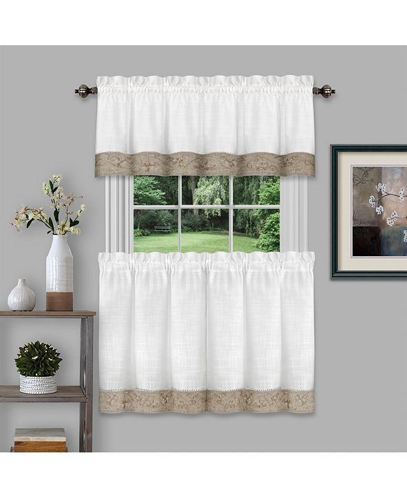 Achim Oakwood 58x14 Window Curtain Valance