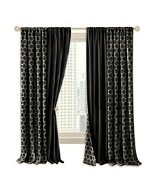 Prelude Reversible Blackout Rod Pocket Curtain Panel, 50x63