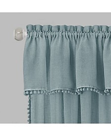 Wallace Curtain Tier and Valance Set, 58x24