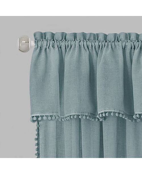 Achim Wallace Curtain Tier and Valance Set, 58x24