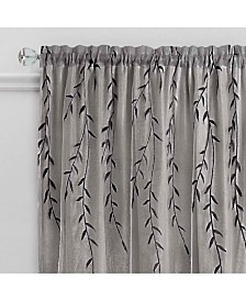 Willow Rod Pocket Window Curtain Panel, 42x63
