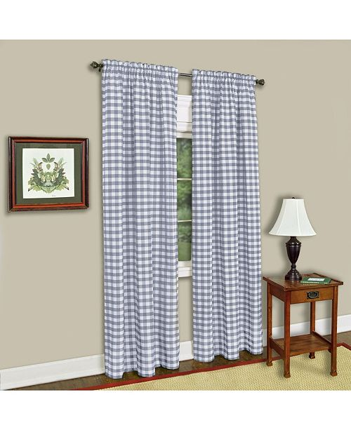 Achim Buffalo Check Window Curtain Panel, 42x63