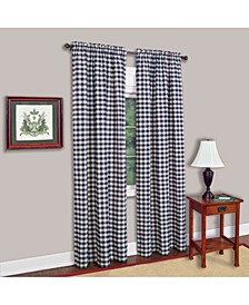 Buffalo Check Window Curtain Panel, 42x63