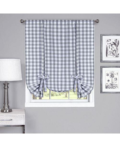 Achim Buffalo Check Window Curtain Tie Up Shade, 42x63