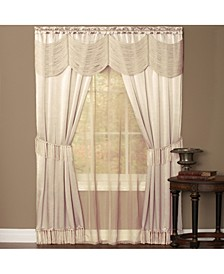 Halley 6 Piece Window Curtain Set, 56x63