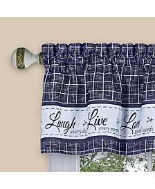 Live, Love, Laugh Window Curtain Valance, 58x14